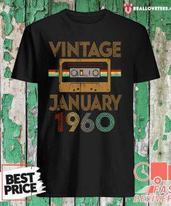 Born January 1960 61st Birthday Quarantine Gift Made In 1960 Shirt