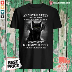 Annoyed Kitty Touchy Kitty Grouchy Ball Of Fur Moody Kitty Grumpy Kitty Grrr Grrr Grrr Shirt