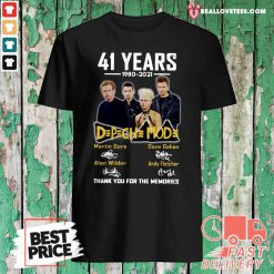 41 Years 1980 2021 D P CH MOD Thank You For The Memories Signatures Shirt