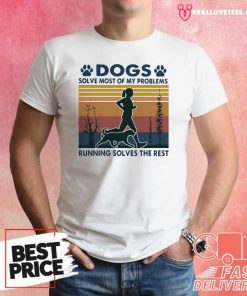Hot Dogs Solve Most Of My Problems Running Solves The Rest Vintage Retro Shirt