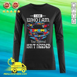 Autism Superman I Am Who I Am Your Approval Isn't Needed Long-sleeved