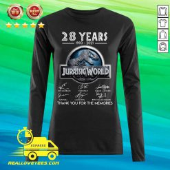 28 Years 1993 2021 Jurassic World Thank You For The Memories Signatures Long-sleeved