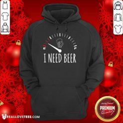 I Need A Beer Meter Sleeveless Hoodie