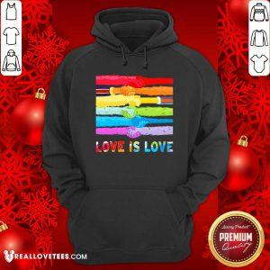 LGBT Hand Love Is Love Hoodie