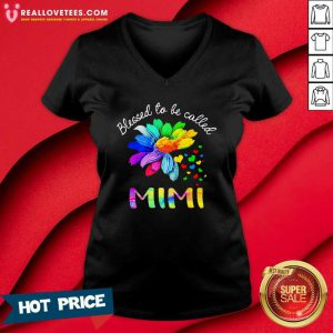 Blessed To Be Called Mimi LGBT V-neck