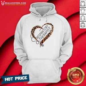 Leopard Heart Frame Medical Stethoscope Respiratory Therapist Hoodie
