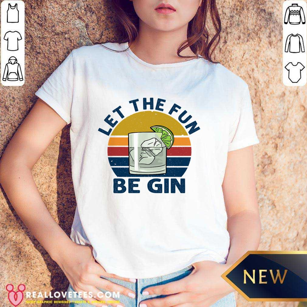 Let The Fun Be Gin Vintage V-neck
