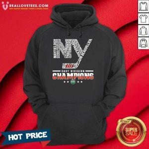 New York 2021 Islanders Hockey East Division Champions Hoodie