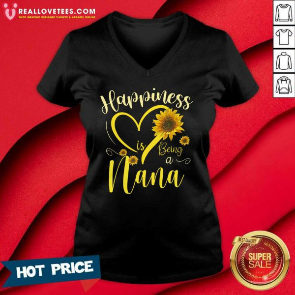 Sunflower Happiness Is Being A Nana V-neck